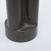"Enzo Mari ""Trifoglio"" Dark Brown Plastic Vase for Danese"