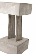 Harry Bertoia Stainless Steel & Gypsum Bundled Wire Form Sculpture