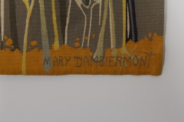 Exquisite Tapestry by Mary Dambiermont, Close Up of Signature