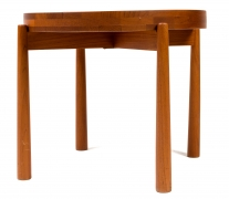 Jens Quistgaard Style Teak Tray Table, Side View