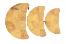 Aldo Tura Goatskin Crescent Nesting Tables, Birds Eye View 2