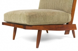 "George Nakashima Walnut ""Cushion Chair"""