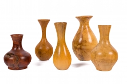 Melvin Lindquist Handcrafted Turned Vase Grouping