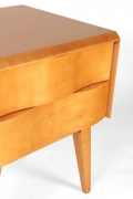 Edmond Spence Wave Front Two-Drawer Nightstands or Side Tables