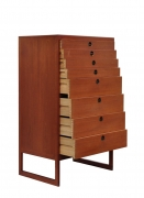 Borge Mogensen Teak Tall Chest of Drawers with Brass Pulls