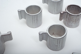 Alessio Tasca Ceramic Demitasse Cups and Sugar Bowl