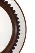 Circular Carved Walnut Wall Mirror by Fratelli Marelli for Framar