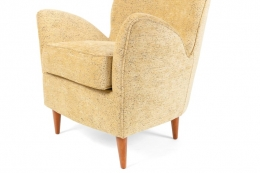 Pair of Yellow Italian Midcentury Style Lounge Chairs