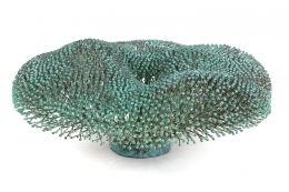 Harry Bertoia Welded Copper and Bronze Bush Sculpture with Applied Patina