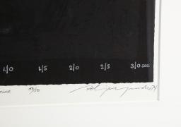"""Adja Yunkers Lithograph """"Shant D'un Oiseau Solitaire"""" 50/50, Close Up 2"""