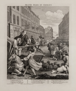 William Hogarth  The Second Stage of Cruelty, pl. 2 from the complete set of four, 1751