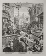 William Hogarth, Gin Lane, from the pair Beer Street & Gin Lane, 1751, 386 x 323 mm. 15 1/8 x 12 3/4 in. Sheet: 482 x 396 mm.  19 x 15 5/8