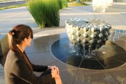 Green Fossil Fountain Plaza