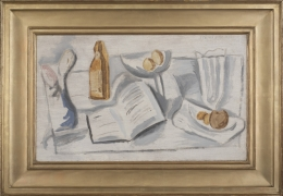 Stuart Davis (1892-1964), Still Life with Book, Compote and Glass, 1922