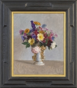 William McGregor Paxton (1869–1941), Still Life with Flowers in a White Staffordshire Vase, c. 1930