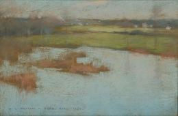 Willard Leroy Metcalf (1858–1925), Grez, View of a Village, 1885