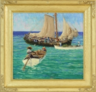 Harry Leslie Hoffman (1871-1964), Nassau Boats, c. 1917