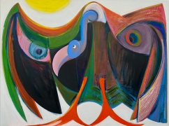 """Antone Könst, """"Vulture"""", 2020, oil on canvas, 36 x 48 inches (91 x 122 cm)."""