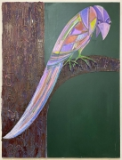 """Antone Könst, """"Bird"""", 2020, Acrylic on canvas, 48 inches by 36 inches."""