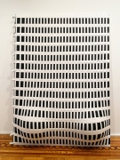 """Jarbas Lopes, """"Untitled"""", 2013, exercise balls in woven elastic on wooden frames, 87-1/2 x 66-1/2 x 15 inches (222 x 169 x 38 cm)."""