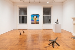 "Installation view of the exhibition ""Empty Legs"" organized by Jacob Billiar"
