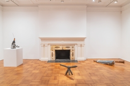 """Installation view of the exhibition """"Empty Legs"""" organized by Jacob Billiar"""