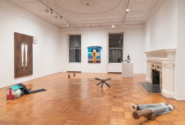 """Installation view of the exhibition """"Empty Legs"""" organized by Jacob Billiar."""