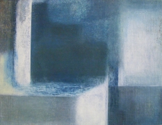 """Rebecca Purdum, """"Marble 448"""", 1998, oil on board, 12 by 15 inches (30 by 38 centimeters)."""