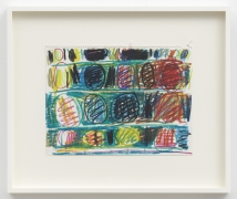 Stanley Whitney Untitled, 1996 Water-soluble crayon on paper 9 1/2 x 12 1/2 inches