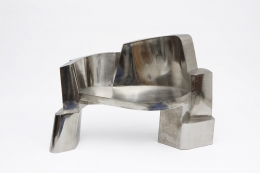 Jim Cole's sculptural bench straight view