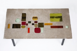 Jacques Avoinet's coffee table table top view