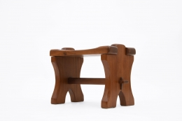 Odile Noll's side table/stool, side view from below
