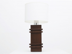 Jacques Adnet's table lamp, full straight view