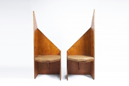 Hervé Baley's large chairs front views