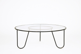 """Mathieu Mategot's """"Bellevue"""" table, full straight view from above"""