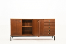 Marcel Gascoin's sideboard, full straight view with one door open