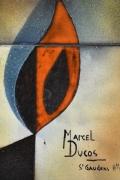 Marcel Ducos ceramic panel detailed view of signature