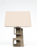 Marius Bessone ceramic table lamp front view