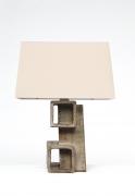 Marius Bessone ceramic table lamp front view
