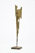 Michel Guino's abstract composition sculpture diagonal view