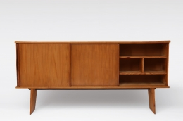 Charlotte Perriand & Pierre Jeanneret's Sideboard, Equipement de la Maison, full straight view with right door open