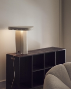 Studio Giancarlo Valle's plateau lamp, installation view