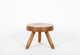 Charlotte Perriand's low stool, full back view