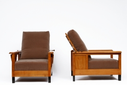 Jean Burkhalter's pair of armchairs front and side view