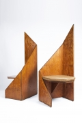 Hervé Baley's large chairs back and side views