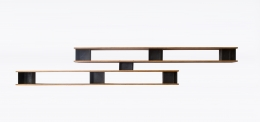 "Charlotte Perriand's ""Nuage"" wall shelving, full straight view"