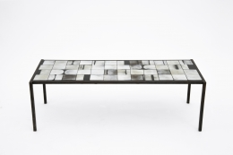 Mado Jolain's ceramic coffee table front view from above