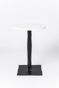 """Howard Meister's """"Steel Dream"""" side table full view from above"""