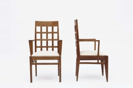 René Gabriel pair of armchairs front view front and side view