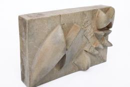 Albert Vallet's wall sculpture, diagonal front view